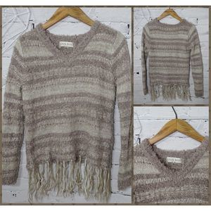 Knox Rose Fringe Split Sweater